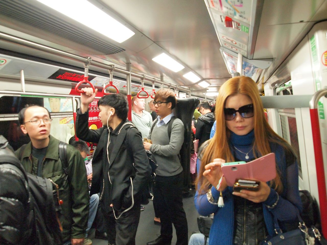 Girl in Hong Kong MTR