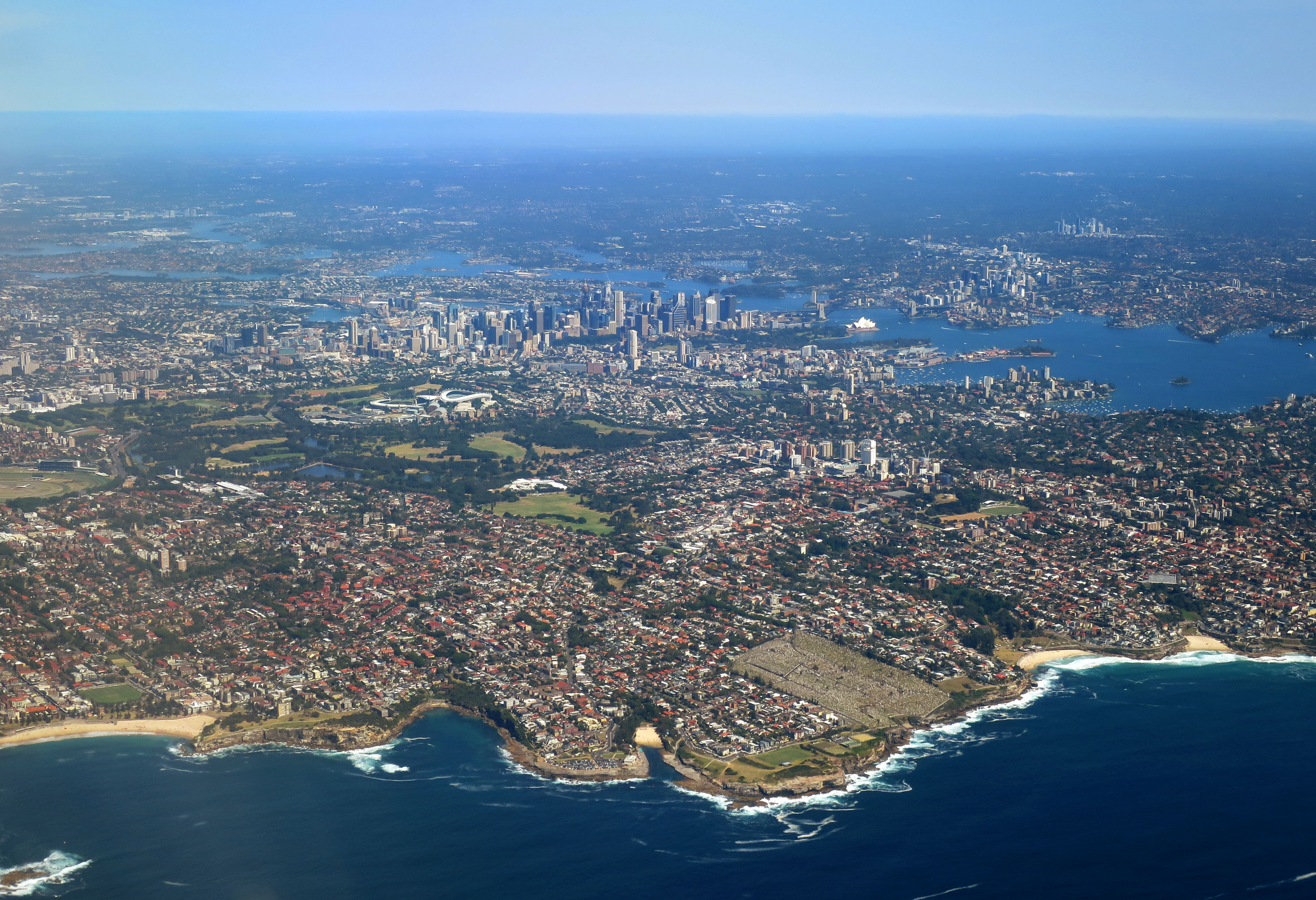 Sydney looking west